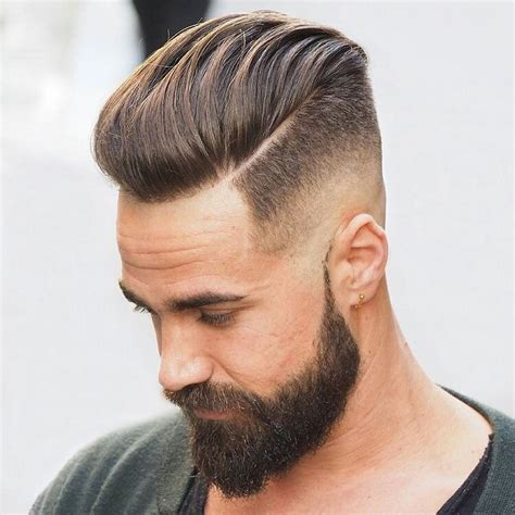 cool hairstyles and beard cool part haircut for men with beards fancy haircuts