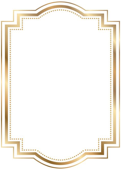 gold wedding border png golden frame clipart clipartxtras