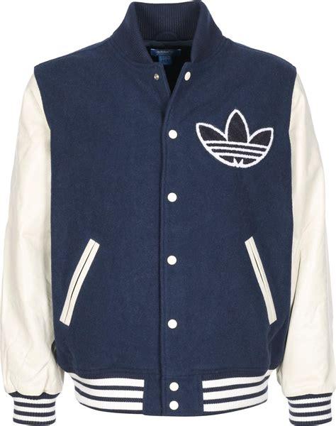Adidas Originals College Letterman Jacket Adidas Nigo Varsity College Jacket Blue Beige
