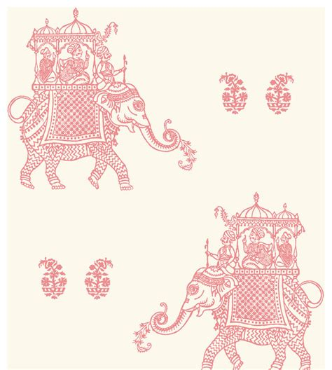 pink elephant wallpaper ophelia pink elephant wallpaper swatch traditional
