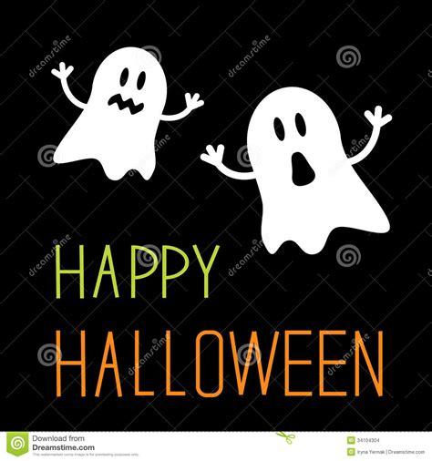 imagenes de halloween vector dos fantasmas divertidos de halloween tarjeta imagenes
