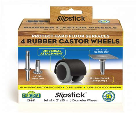 slipstick rubber castor wheels cb slipstick foot