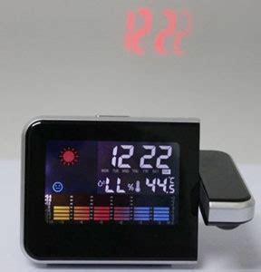 Jam Proyektor jam digital proyektor penunjuk cuaca jk 393 black