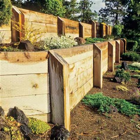 Beautifying Your Landscape Using Wooden Retaining Walls Garden Wall Materials