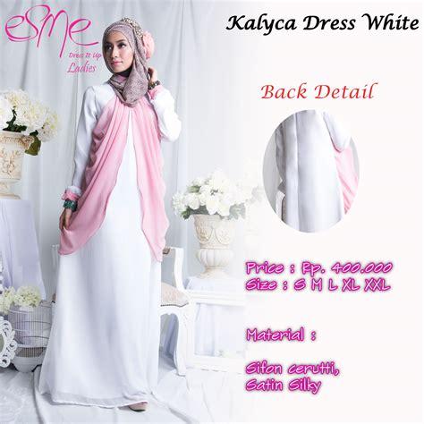 Gamis Azmya Dress By Cynarra cynarra baju muslim modern pusat baju muslim gamis kalyca dress white baju muslim gamis modern