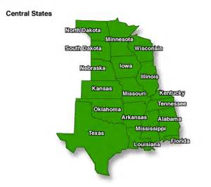 central united states map mmwr state or territorial health departments central region
