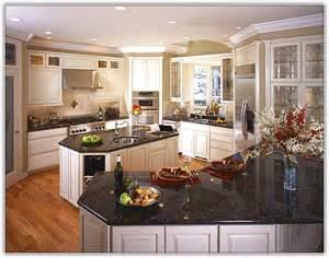 nice Kitchens With Black Granite Countertops #2: off-white-kitchen-cabinets-with-black-granite.jpg