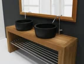 un lavabo noir pour la salle de bains 233 l 233 gante archzine fr