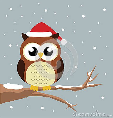 christmas owl stock vector image