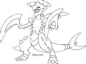 m233ga carchacrok coloriage pokemon 224 imprimer sketch template