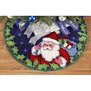 latch hook christmas tree skirt kits santa tree skirt latch hook kit