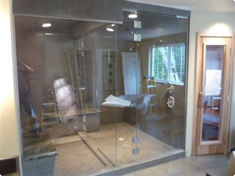 Glass Steam Room by Precut Indoor Saunas Kits