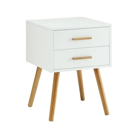 White End Tables With Drawers by 2 Drawer End Table In White 203522