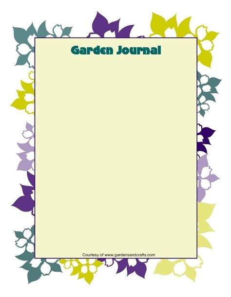 garden journal template garden journal templates