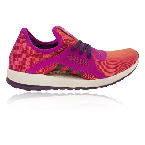 cushioned athletic shoes adidas pureboost x womens orange purple cushioned running