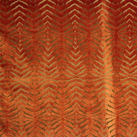 cut velvet upholstery orange cut velvet fabric modern animal upholstery tiger