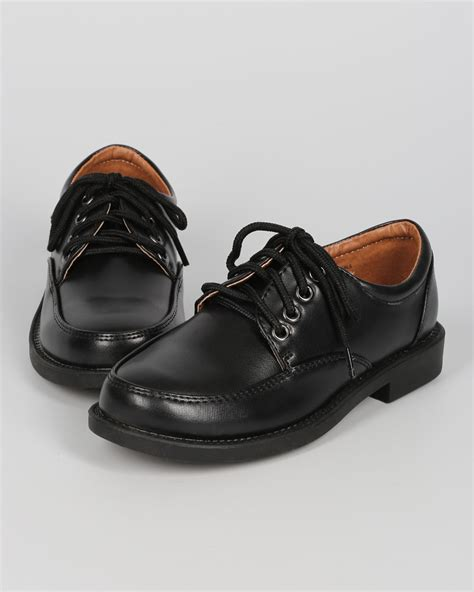 occasions school rider bc67 leatherette toe lace up