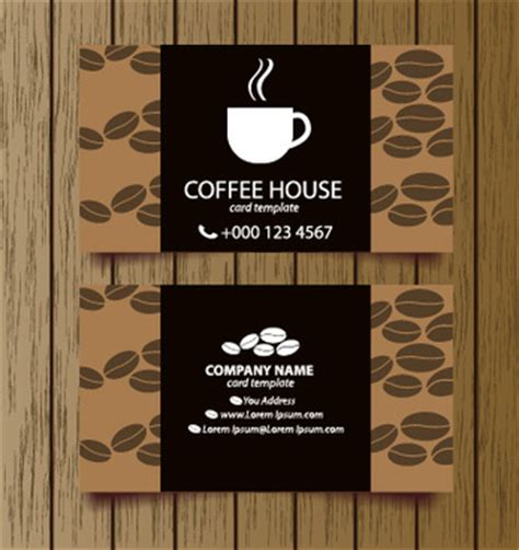 free coffee bussiness card template abstract creative curved style in business card free