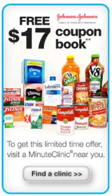 free coupon booklet from cvs minute clinic who said