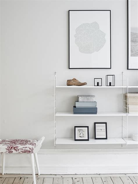 room shelves decordots interior inspiration string shelves