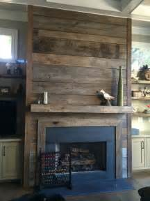 reclaimed wood fireplaces in atlanta rustic family