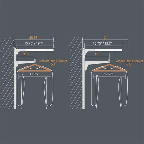 Closet Rack Height by Best 25 Closet Rod Height Ideas On Wardrobe