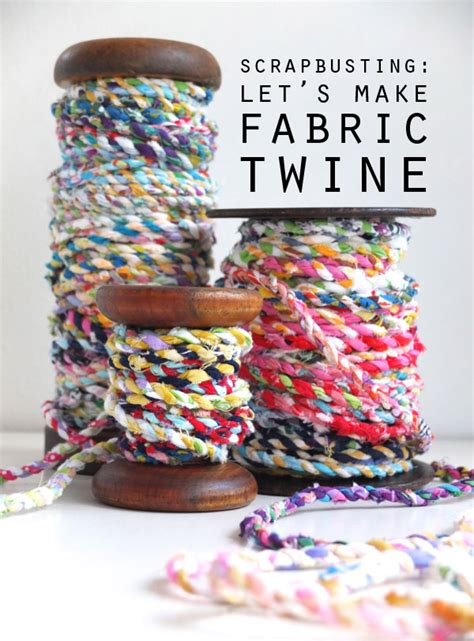 Handcrafted Textiles - scrapbusting handmade scrap fabric twine my poppet makes