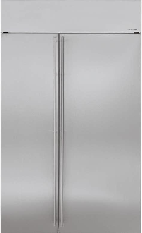48 inch ge monogram refrigerator monogram ziss480nkss 48 inch built in side by refrigerator