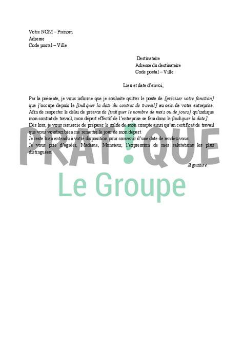 Exemple De Lettre De Démission Sans Préavis Lettre De D 233 Mission D Un Cdi Application Letter