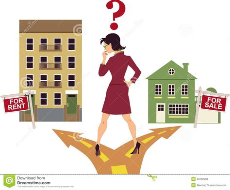 to rent or buy a house to rent or buy stock vector image 40782288