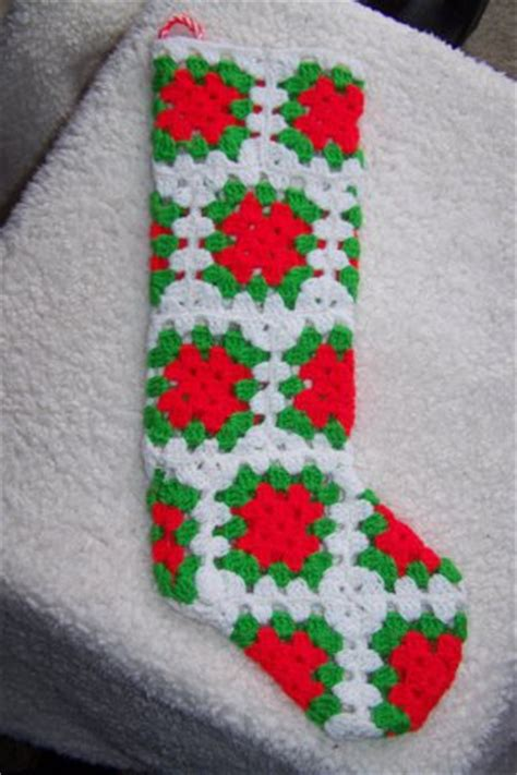 pattern for granny square christmas stocking crochet granny square christmas sock only new crochet