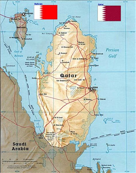 middle east map bahrain middle east