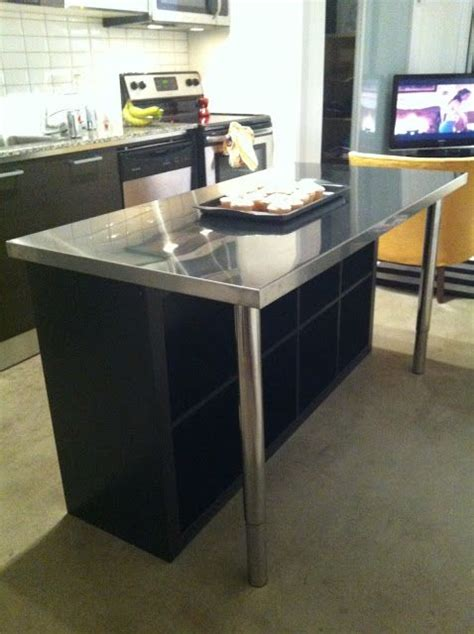 Stainless Steel Kitchen Island Ikea 17 Best Ideas About Ikea Island Hack On Pinterest Breakfast Bar Legs Expedit Bookcase And