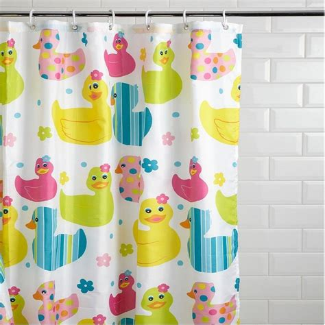 Kid Bathroom Shower Curtains New Quackers Duck Design Childrens Shower Curtain Non Slip Bath Mat Ebay
