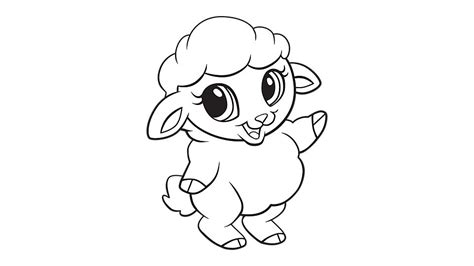 Baby Sheep Coloring Pages baby sheep coloring printable