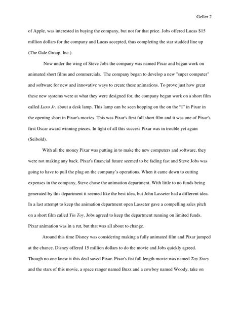 disney research paper senior project research paper