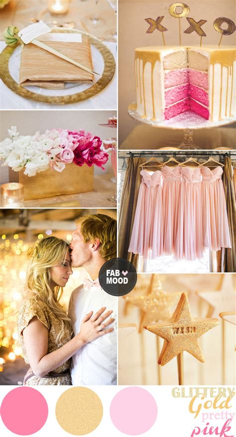 Wedding Theme Idea Pink And Gold Our One 5 by Pink And Gold Wedding Colors Palette