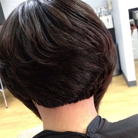 Back View Of Layered Bob Of African American Hair | bob haircut by pekela riley women s hairstyles black
