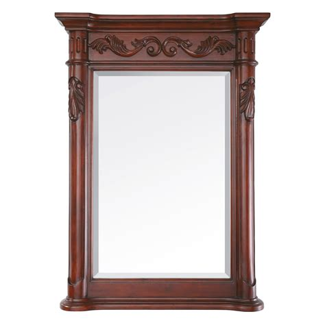 Mirror Bathroom Vanity Cabinet 24 Quot Provence Bathroom Vanity Antique Cherry Bathroom Vanities Bath Kitchen And Beyond