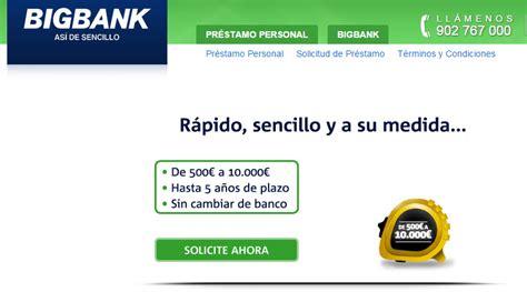 bank es big bank espa 241 a opiniones de portal de pr 233 stamos personales