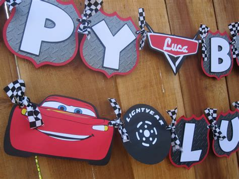 cars birthday banner template premium disney cars lightning mcqueen birthday banner