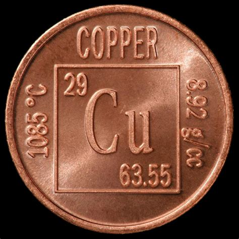 Cu On Periodic Table by Element Coin A Sle Of The Element Copper In The