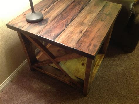 How To Make End Tables by White Rustic X End Table Diy Projects