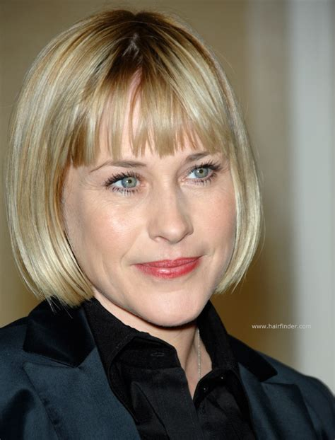 Arquette Barely Keeps The In At A Scottish Fashion Event by Arquette Professional Look With A Bob