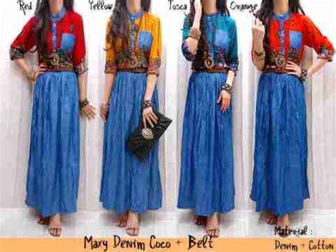 Etnik Maxy By Fashion maxi dress etnik denim belt 2in1 baju wanita maxy coco murah