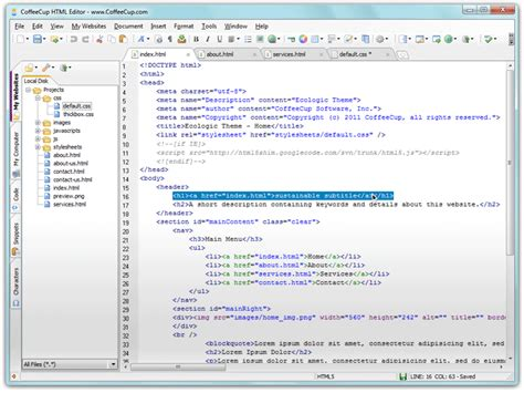 html editor website web design software coffeecup solution from internet top best free web design software