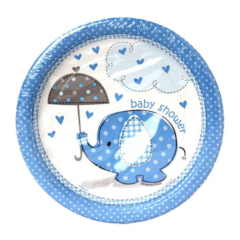 baby shower boy cake plates 7 quot - Baby Shower Plates Boy
