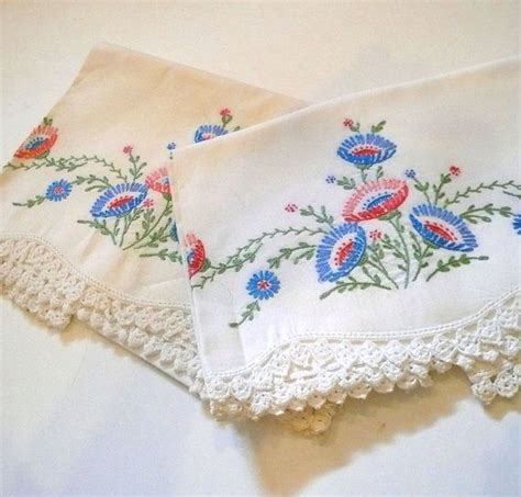 Embroidered Pillow Cases by 25 Best Ideas About Embroidered Pillowcases On