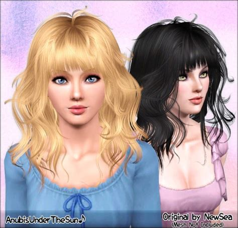 sims 3 custom content fringe hairstyle the sims 3 curled hairstyle with bangs newsea s
