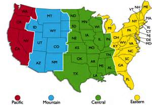 maps time zones us map united states